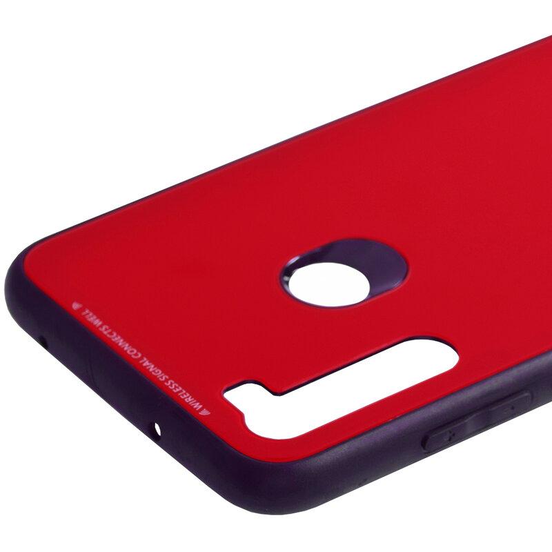 Husa Xiaomi Redmi Note 8 Glass Series - Rosu