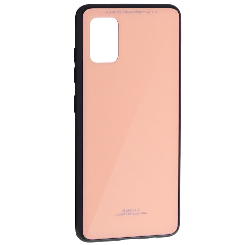 Husa Samsung Galaxy A51 Glass Series - Roz