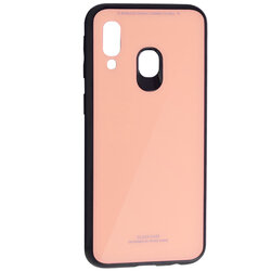 Husa Samsung Galaxy A40 Glass Series - Roz