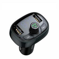 Incarcator Auto Cu Modulator FM Baseus T-Typed Wireless MP3 - CCALL-TM0A - Tarnish