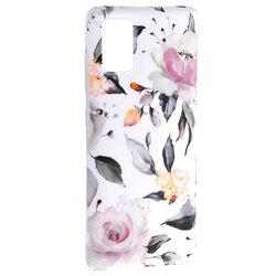 Husa Samsung Galaxy A51 Tech-Protect Floral - Alb