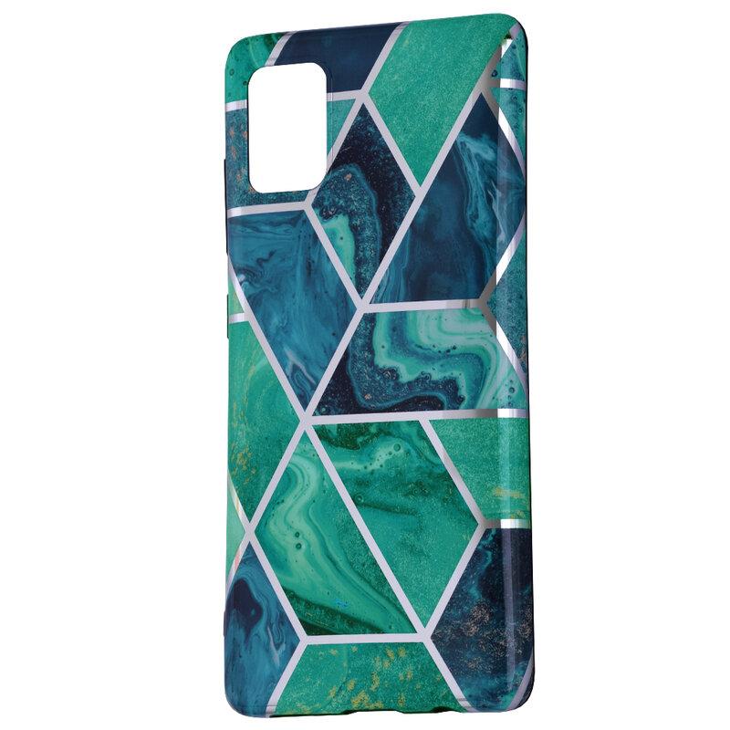 Husa Samsung Galaxy A51 Tech-Protect Marble - Albastru