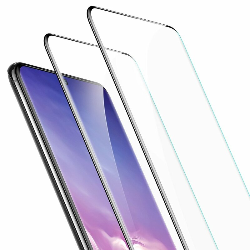 [Pachet 2x] Folie Sticla Samsung Galaxy S20 Plus ESR Screen Shield 3D Edge Guard - Black