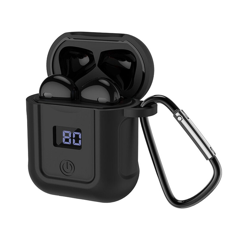 Casti In-Ear Hoco Selected S11 Melody Wireless Headset Bluetooth Docking Station Cu Husa Din Silicon - Negru