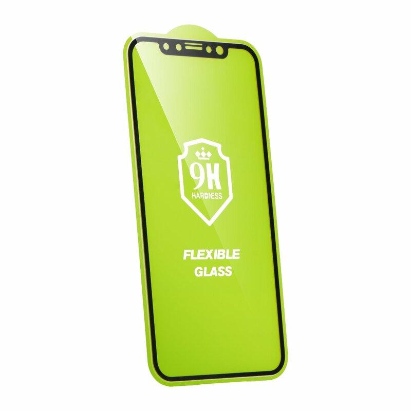 Folie iPhone XS Nano Flexible Glass Full-Screen 9H - Negru