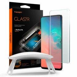 Folie Sticla Samsung Galaxy S10 Spigen GLAS.tR Platinum UV Light - Clear