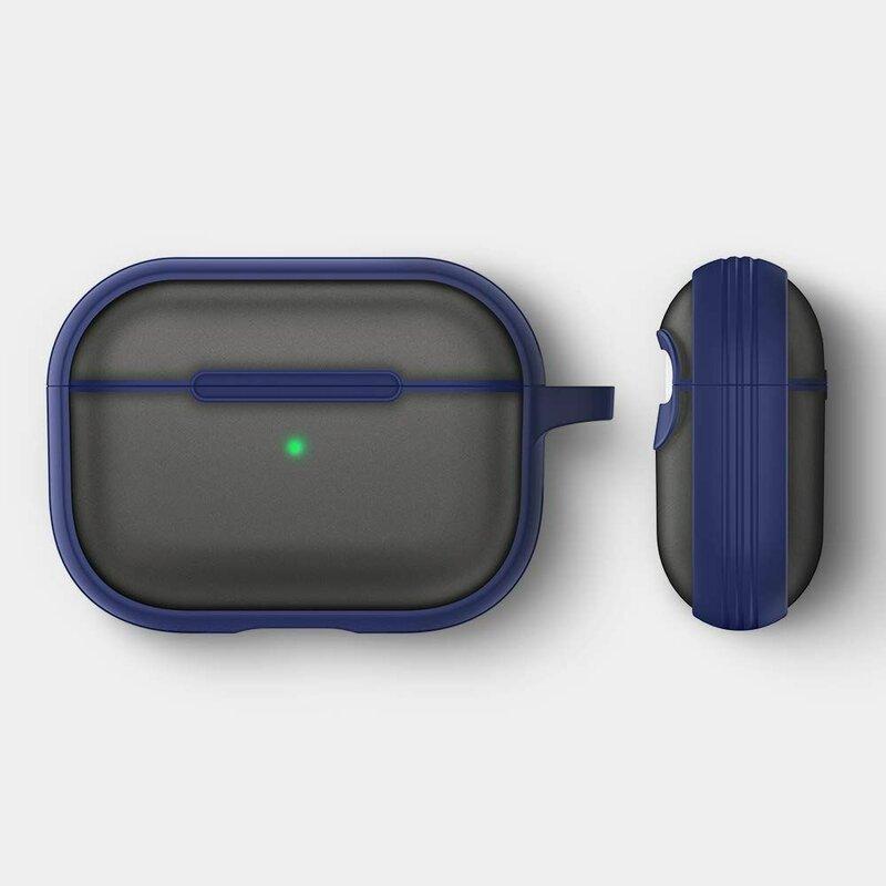 Husa Apple Airpods Pro Spigen Ciel by Cyrill Color Brick Transparenta Cu Holder Metalic - Albastru