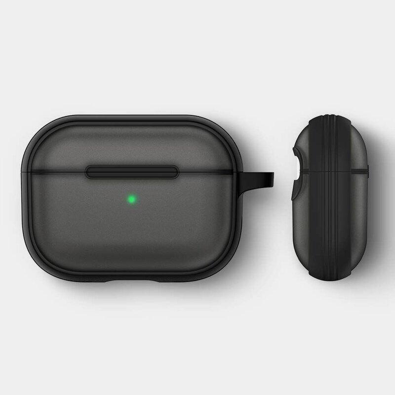 Husa Apple Airpods Pro Spigen Ciel by Cyrill Color Brick Transparenta Cu Holder Metalic - Negru