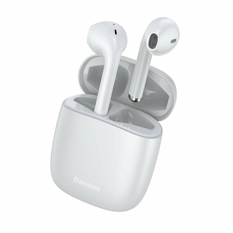Casti In-Ear Baseus W04 Enkok True Wireless Earphones Hi-fi Cu Microfon - NGW04-02 - Alb