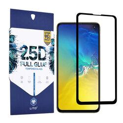 Folie Sticla Samsung Galaxy S10e Lito 2.5D Full Glue Full Cover Cu Rama - Negru