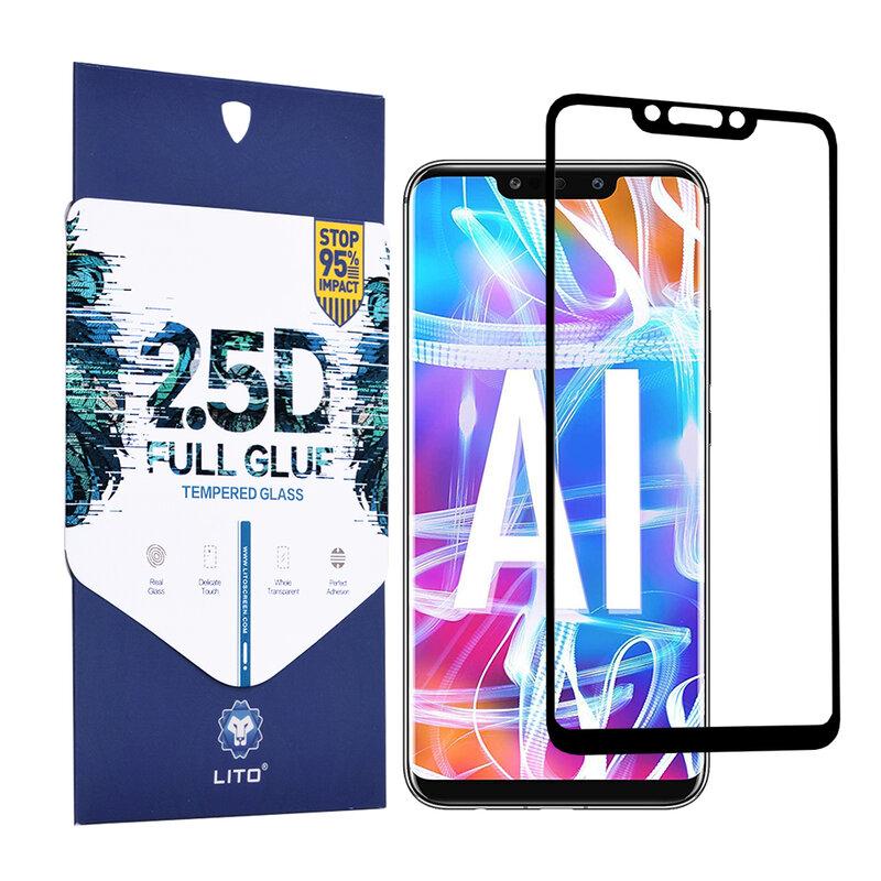 Folie Sticla Huawei Mate 20 Lite Lito 2.5D Full Glue Full Cover Cu Rama - Negru