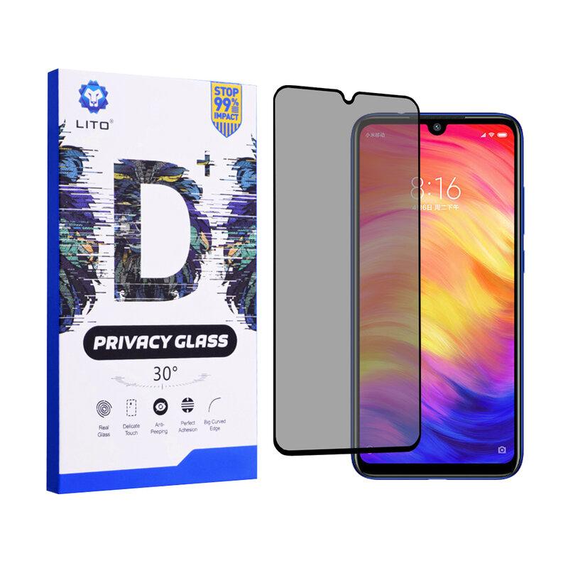 Folie Sticla Xiaomi Redmi Note 7 Lito Privacy Cu Rama - Negru