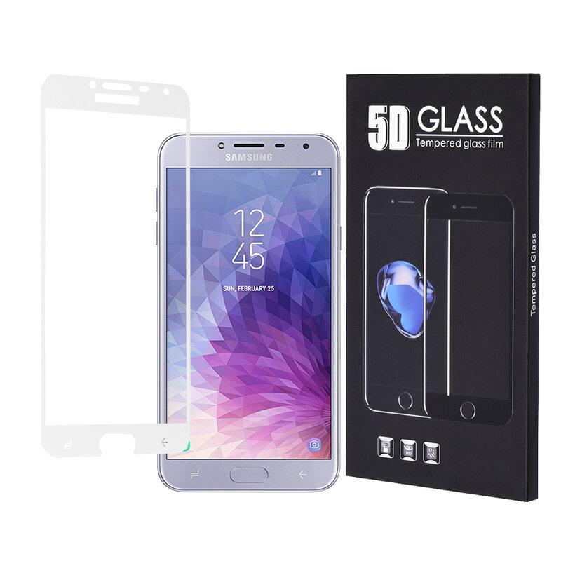 Folie Protectie Samsung Galaxy J4 2018 Sticla 5D FullGlue - Alb