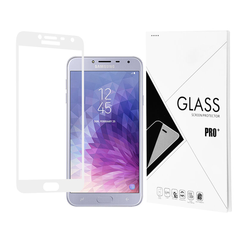 Folie Protectie Samsung Galaxy J4 2018 3D Full Glue - Alb