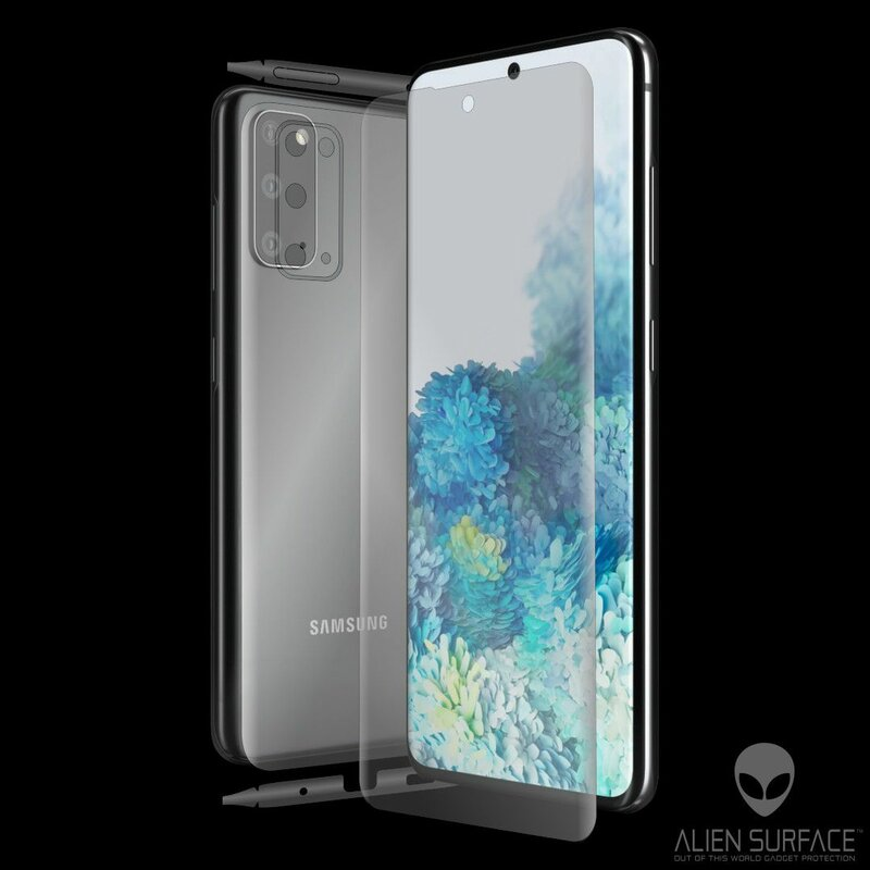 Folie 360° Samsung Galaxy S20 Alien Surface ecran, spate, laterale, camera - Clear