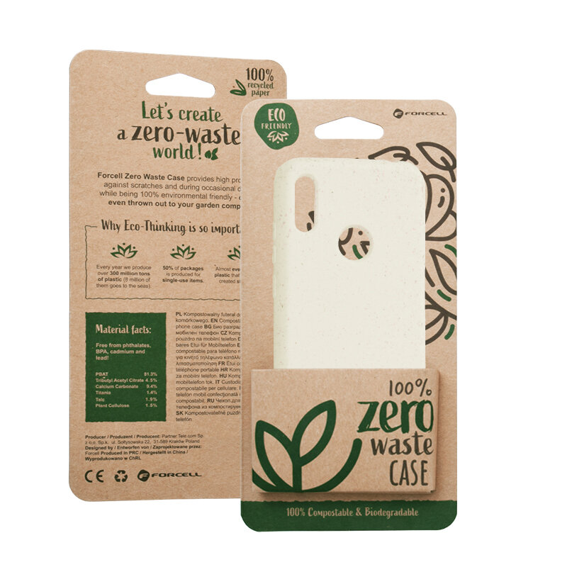 Husa Huawei Y6 2019 Forcell Bio Zero Waste Eco Friendly - Alb