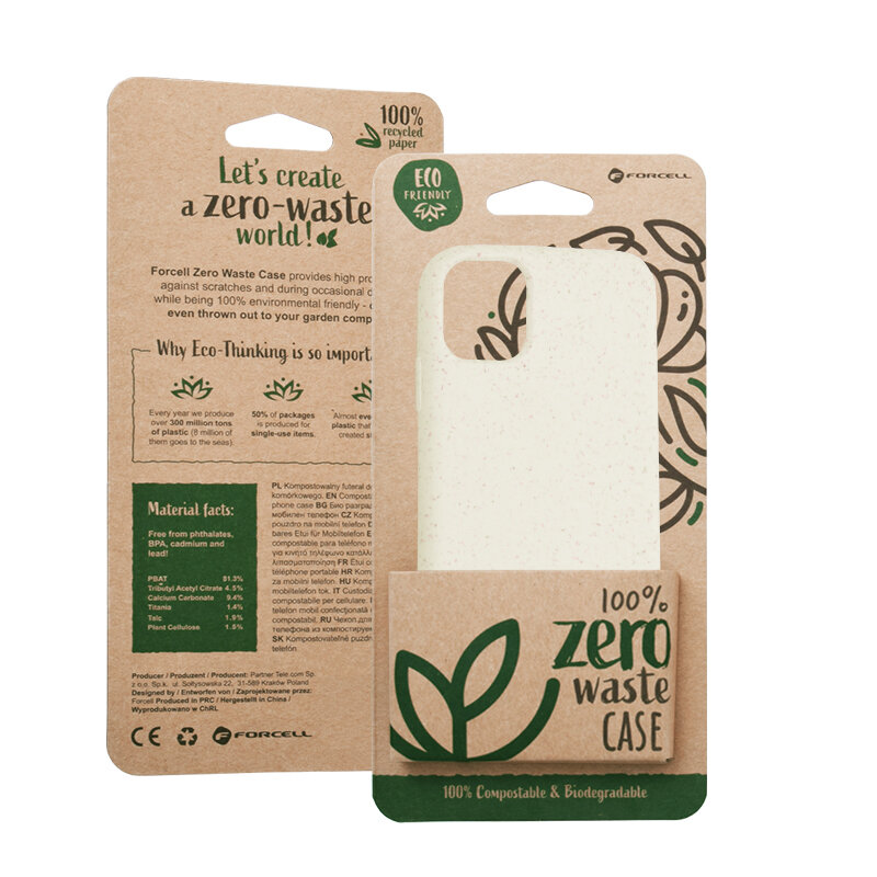 Husa iPhone 11 Forcell Bio Zero Waste Eco Friendly - Alb