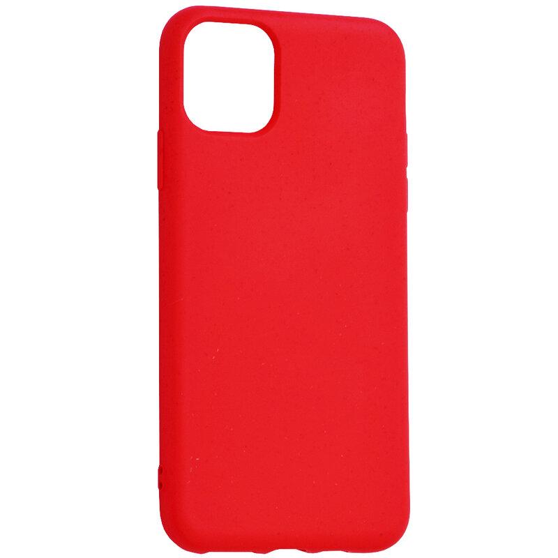 Husa iPhone 11 Pro Max Forcell Bio Zero Waste Eco Friendly - Rosu