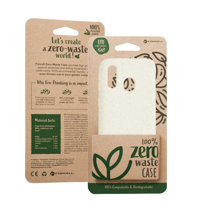 Husa Samsung Galaxy A40 Forcell Bio Zero Waste Eco Friendly - Alb