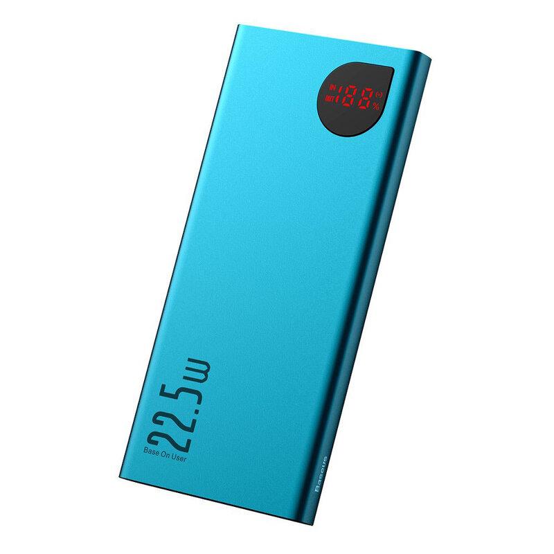 Baterie Externa Baseus Adaman Metal Digital Display 10000mAh 22.5W PD3.0 / QC3.0 - PPIMDA-B06 - Verde