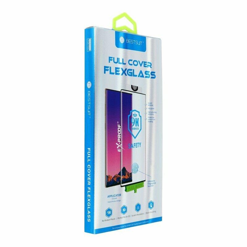 Folie Sticla Flexibila Samsung Galaxy S10 Bestsuit Fullcover Hot Bending - Black