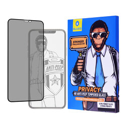 Folie Sticla iPhone 11 Pro Max Blueo 5D Mr. Monkey HD Strong Privacy Cu Rama - Negru