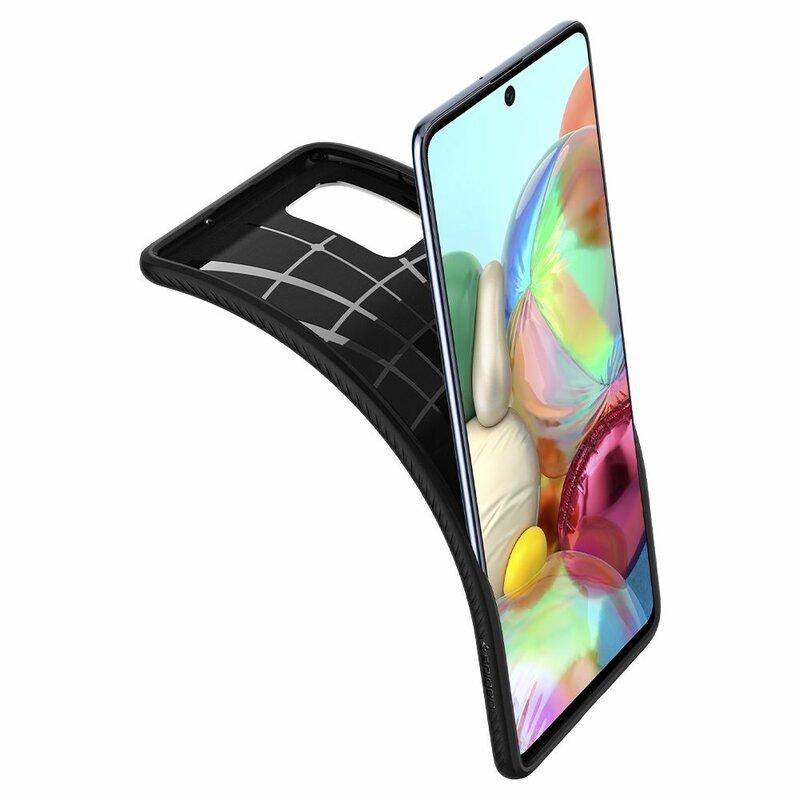 Husa Samsung Galaxy A71 Spigen Liquid Air - Matte Black