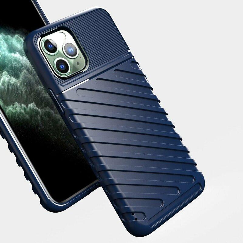 Husa iPhone 11 Pro Max Thunder Flexible Tough TPU - Albastru