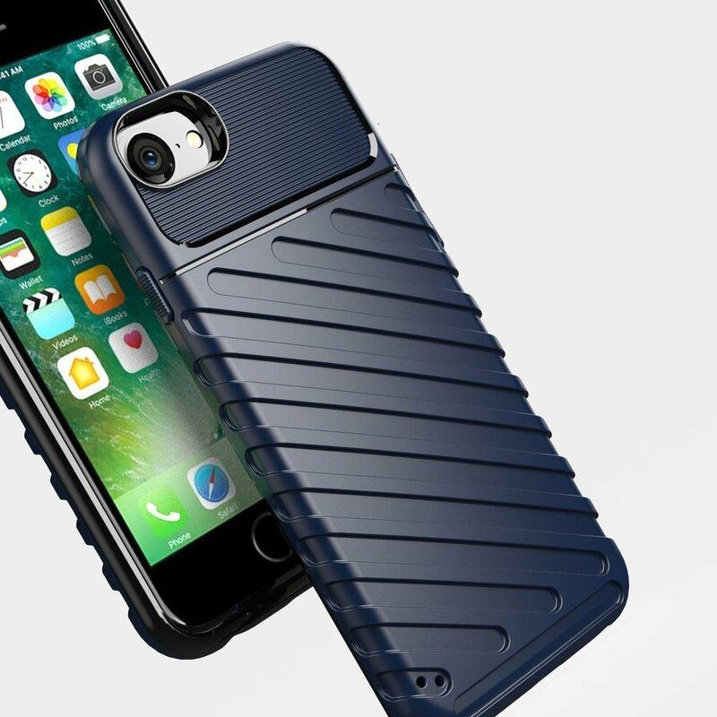 Husa iPhone 8 Thunder Flexible Tough TPU - Albastru