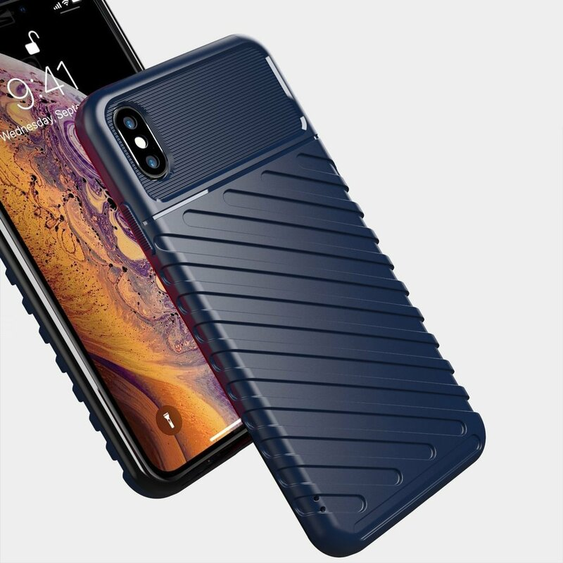 Husa iPhone XS Max Thunder Flexible Tough TPU - Albastru