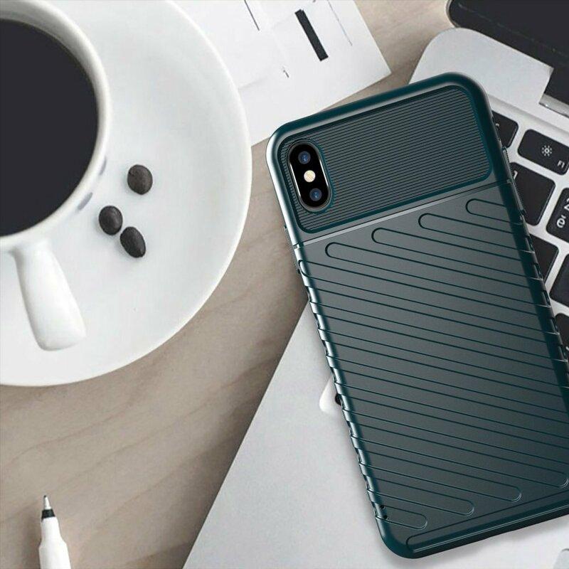 Husa iPhone XS Max Thunder Flexible Tough TPU - Verde