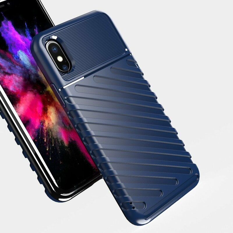 Husa iPhone XS Thunder Flexible Tough TPU - Albastru