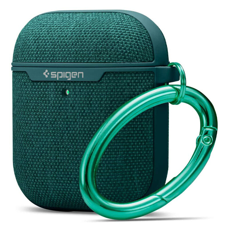 Husa Apple Airpods Spigen Urban Fit Cu Holder Metalic - Verde