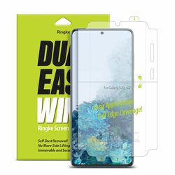 [Pachet 2x] Folie Samsung Galaxy S20 5G Ringke Dual Easy Wing Self Dust Removal - Clear