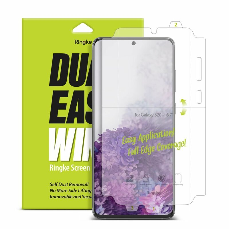 [Pachet 2x] Folie Samsung Galaxy S20 Plus Ringke Dual Easy Wing Self Dust Removal - Clear