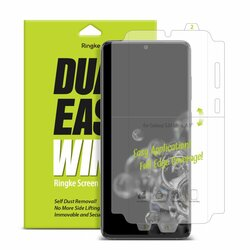 [Pachet 2x] Folie Samsung Galaxy S20 Ultra 5G Ringke Dual Easy Wing Self Dust Removal - Clear