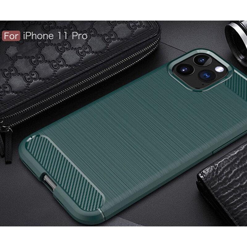 Husa iPhone 11 Pro TPU Carbon - Verde