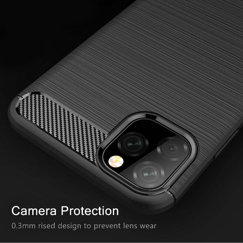 Husa iPhone 11 Pro TPU Carbon Negru