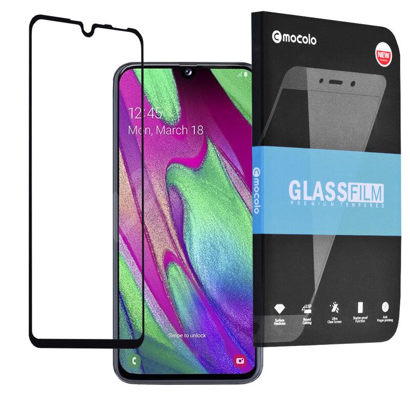 Folie Sticla Samsung Galaxy A40 Mocolo Full Glue 9H - Black