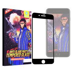 Sticla Securizata iPhone 7 Monkey Anti-Glare FullCover - Negru