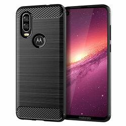 Husa Motorola One Vision TPU Carbon Negru