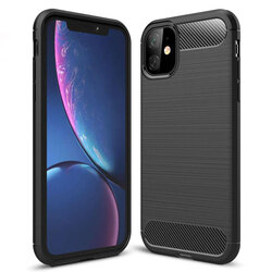 Husa iPhone 11 TPU Carbon Negru