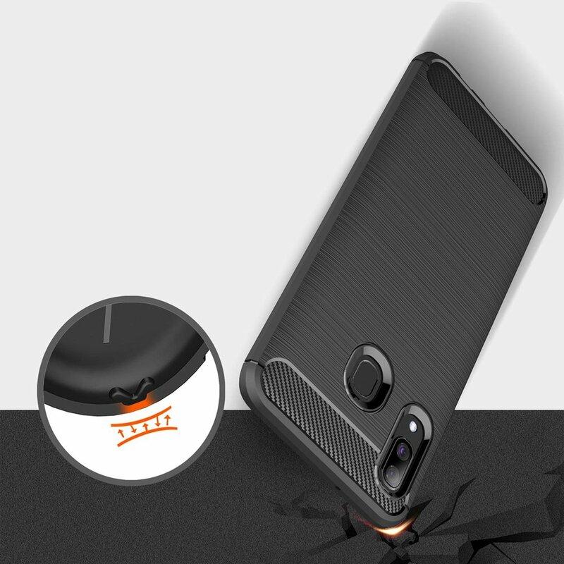 Husa Samsung Galaxy A40 TPU Carbon Negru