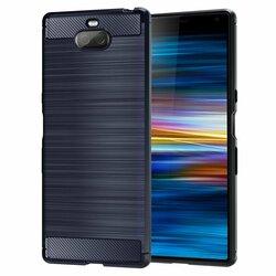 Husa Sony Xperia 10 TPU Carbon Albastru