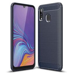 Husa Samsung Galaxy A20 TPU Carbon Albastru