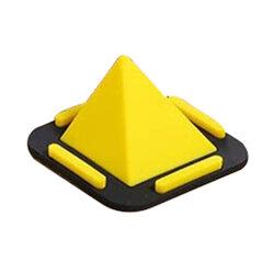 Suport Birou Pyramid Charging Dock Desktop Stand Universal Din Silicon Pentru Telefon - Galben