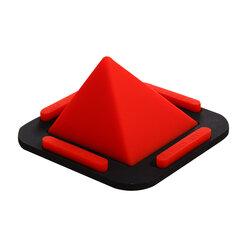 Suport Birou Pyramid Charging Dock Desktop Stand Universal Din Silicon Pentru Telefon - Rosu