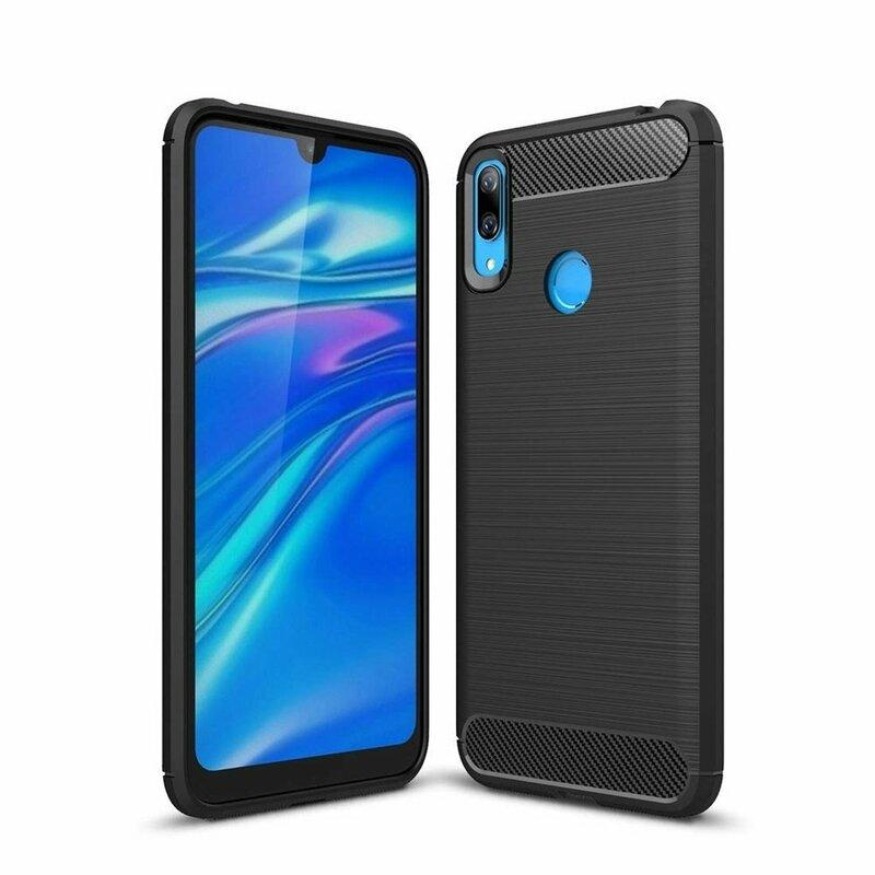 Husa Huawei Y6 2019 TPU Carbon Negru