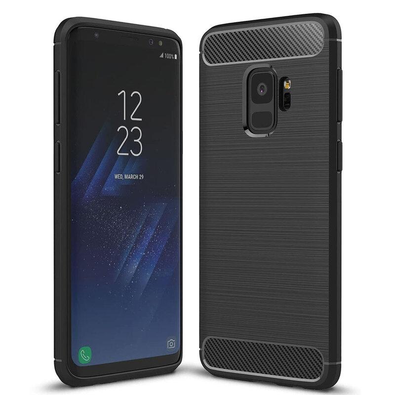 Husa Samsung Galaxy S9 TPU Carbon Negru