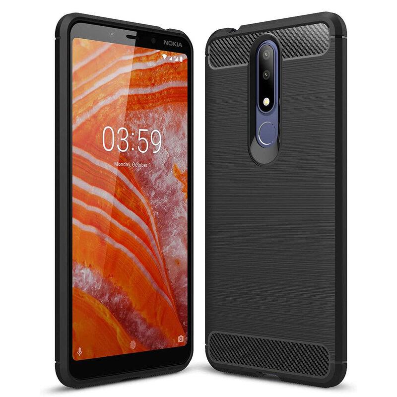 Husa Nokia 3.1 Plus 2018 TPU Carbon Negru